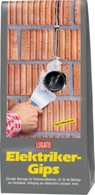 Lugato Elektrikergips 5 kg - Zum Einsetzen von Steckdosen und zur Verlegung von elektrischen Leitungen