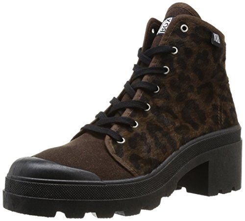 No Box - Sneaker, Donna, Marrone (Braun - Marron (Leopard Brown)), 39