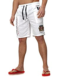 Geographical Norway Men Swimming Shorts QUARTER Embroidery Monte Carlo with Bags