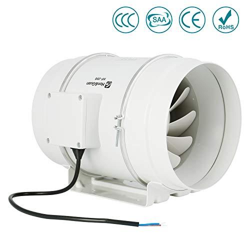 Ventilador de escape, HG Power 200mm Ventilador Extractor de Aire en Línea...