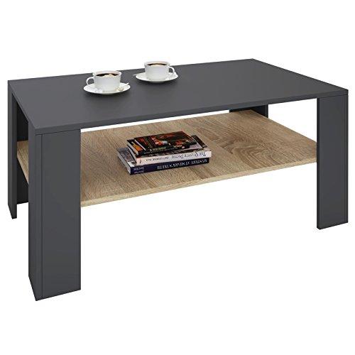 IDIMEX Table de mélaminé et décor LorientTable Gris chêne Basse de Rangement Salon avec 1 Ouverten rectangulaire étagère Sonoma Espace Mat Y6bfgv7y