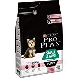 Pro Plan Dog Small and Mini Puppy Sensitive Skin, Reich an Lachs, Trockenfutter Beutel, 4 X 3 kg
