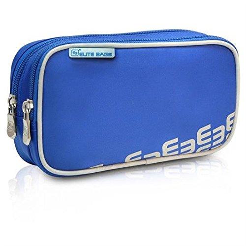 Elite Bags DIA'S | Bolsa isotérmica diabético azul | Estuche isotérmico para diabéticos | Conserva la insulina a la temperatura adecuada | Medidas: 19 x 10 x 5 cm