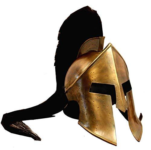 Calvin mittelalterlicher Wikinger Römischer Rüstungshelm King Leonidas 300 Spartan Brass Helm Mittelalterlicher Helm | Maske Partyhelm Bronze