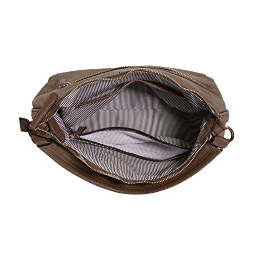 Pleasure 2486 Tasche Damen Schultertasche Handtasche 33x33x15 cm (BxHxT), Farbe:Taupe Picard