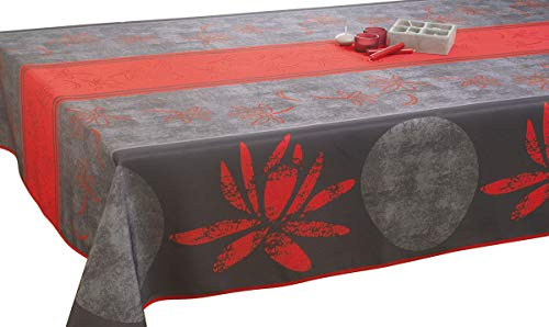Nappe anti-taches Lotus rouge - taille : Rectangle 150x240 cm