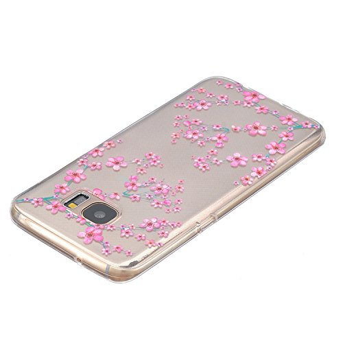 Schutzhülle für Samsung Galaxy S7, Ultra Slim, Silikon transparent, TPU Gummi, Silikon, Girl, iPhone 6s Plum Blossom