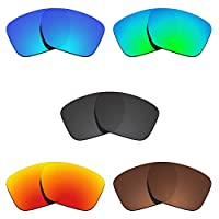 Glintbay 5 Pairs Replacement Lenses for Oakley Sliver XL OO9341 Pack-BBRGB