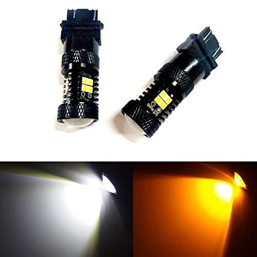 Preisvergleich Produktbild Heinmo 3157 3155 3457 4157 LED Leuchtmittel 3030 Chipsätze Beamer Blinker Weiß / Gelb Extrem helle LED Rückleuchten