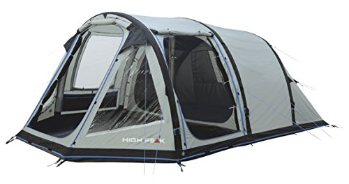 High Peak Lakeside Air 5 Zelt, grau, 490x330x205 cm