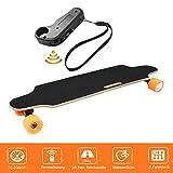 Longboard E Komplettboard Elektrisches City Skateboards Elektrolongboard mit Fernbedienung und 250W Motor | Reichweite 10 km, Max. Geschwindigkeit 20km/h (Orange)