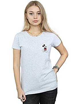 Disney Mujer Mickey Mouse Kickin Retro Pocket Camiseta