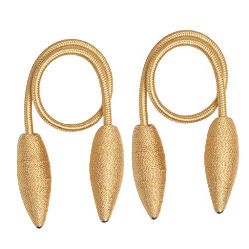 B Blesiya 1 Paar 55cm Raffhalter Gardinenhalter Vorhanghalter Holdback Buckles - Gold -