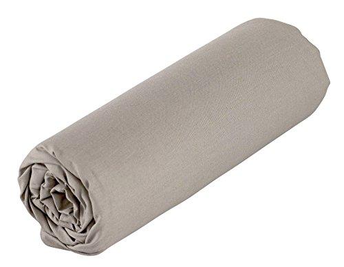 Drap Housse Enfant - 60x120cm - Coloris Taupe - Coton Bio