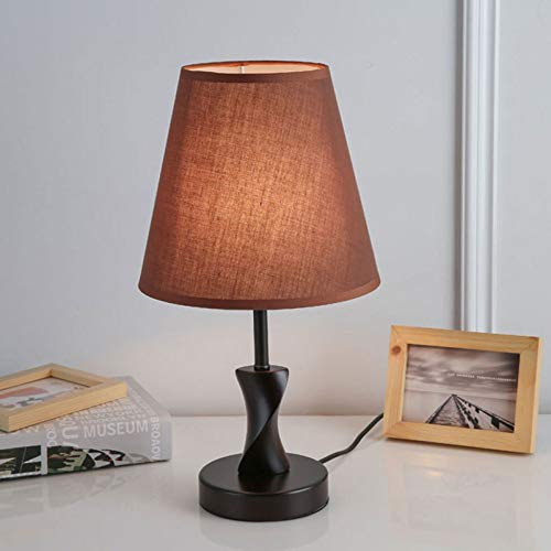DRQ-Schlafzimmer-Nachttisch-Lesetisch-Schreibtischlampe Nordische Studie Augenschutz-Student, Der Das Verdunkeln des Nachtlichts Lernt,E-9.0 * 16.1in-dimmerswitch
