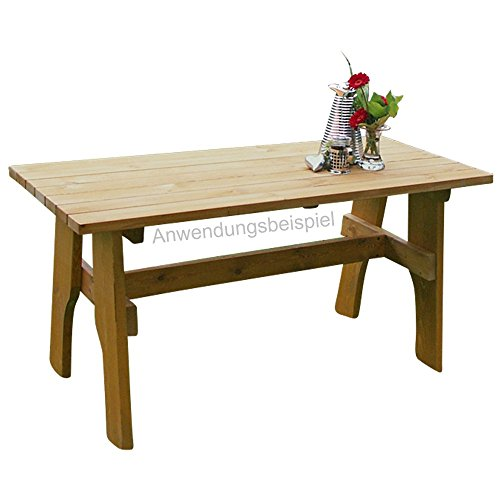 Gartentisch Freital 150x70cm Holz Kiefer Massiv hellbraun imprägniert