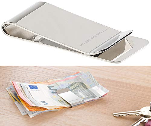 PEARL Geldklammer: Elegante Geldschein-Klammer aus rostfreiem Edelstahl (Geldspange)
