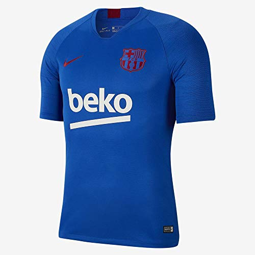 Nike FCB M Nk BRT Strk Top SS Camiseta, Hombre, Lyon Blue/Lyon Blue/Noble Red, XL