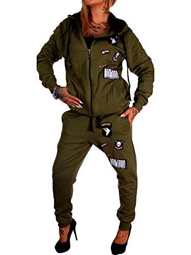 Damen Jogging-Anzug USA-Patches 685 (XL-fällt groß aus, (Sexy Frauen Anzüge)