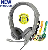 BuddyPhones - Galaxy, Volume-Safe Gaming Foldable Headset for Kids, Detachable 3.5mm Jack with High-Performanc