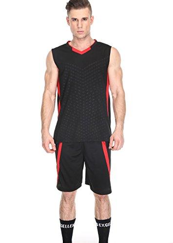 Männer Basketball Shorts und Jersey Basketball Uniform für Männer Trainieren Laufen Gym Shorts Set Schnelle Trockene atmungsaktive Sportbekleidung