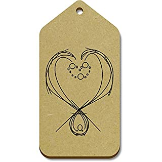 Azeeda 10 x Large 'Abstract Heart' Wooden Gift Tags (TG00079876)