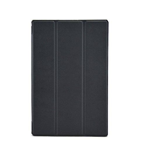 Awenroy Hülle für Sony Xperia Z2 Tablet Ultra dünn Smart Magnetische Abdeckung Hochwertiges PU mit Standfunktion Ideal Geeignet für Sony Xperia Z2 Tablet - Schwarz