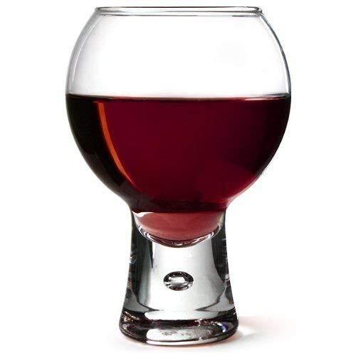 Alternato Wine Glasses 19oz / 540ml - Pack of 4 | Red Wine Glasses, Short Stem Glasses, Bubble Base Glasses from Durobor