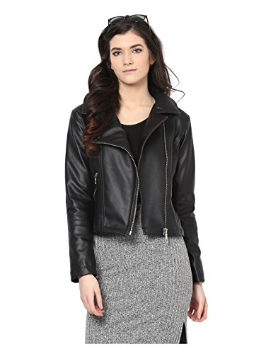 c062eb24065b8 Yepme 118108 Womens Black Leather Jackets Ypmjackt5134 L- Price in India