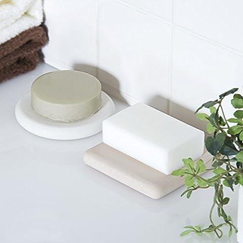 KHSKX Vassoio del sapone del piatto di diatomee umidità odore sapone 10 * 10 * 1.5 cm