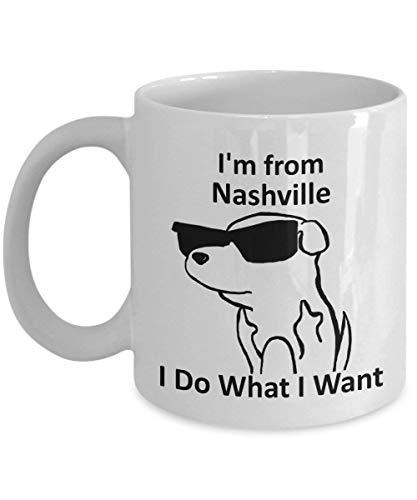 Nashville-Ruhm-Becher-magischer Kaffee-weißer einfacher 11oz Überraschungs-Becher (Nashville-kaffee-tasse)