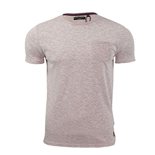 Brave Soul Herren T-Shirt MTS_69_Nixon_Grey_Pink