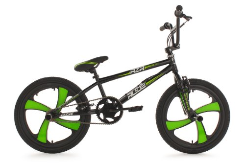 KS Cycling BMX Freestyle Rude - Bicileta BMX , para todas las medidas a partir de 135 cm, color negro