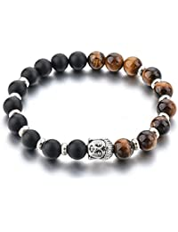 Healing Accessories Certified Natural Stones & Buddha Charms Reiki/Yoga Positive Energy Beads Stylish Bracelet...