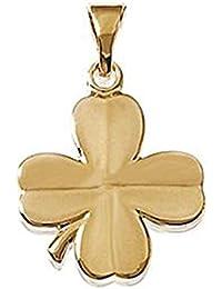 a3e35337e09a Amazon.es  Trebol de cuatro hojas - Chapado en oro  Joyería