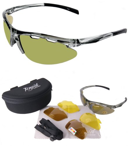 Rapid Eyewear Fore Green-Opaque Polarised Sunglasses for Golf, With Interchangeable lenses