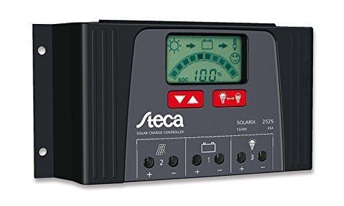 Steca Solarladeregler Solarix 4040 12/24VDC 40A LCD Display IP32 5V USB 1,5A