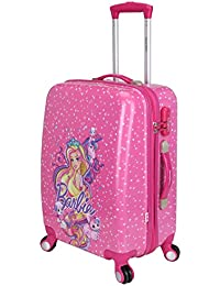 Disney Barbie 51 cm ABS Hard Sided Kids Checkin Luggage - Trolley/Travel/Tourist Bags (Humpy Dumpty), Pink