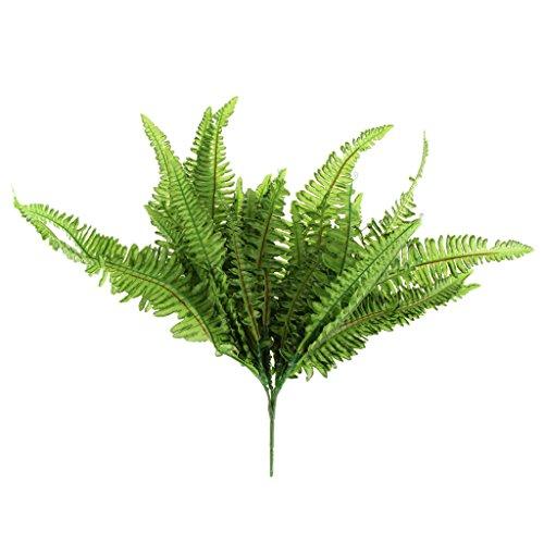 Große Weiche Grün Nachahmung Farn Kunstrasen Verlässt Pflanze Hauptdekor