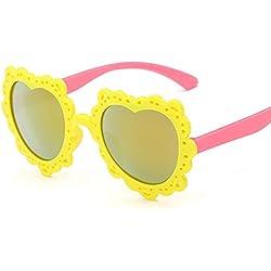 Aierwish Männliches und weibliches Kinder Neue schön Herz UV-Schutz Sonnenbrille (2)