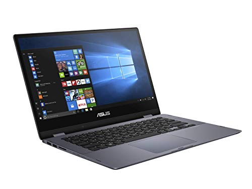 "Asus Vivobook Convertible TP412UA-EC036T PC portable 14"" Full HD Gris Clair (Intel Core i3, 4 Go de RAM, SSD 128 Go, Windows 10) Clavier AZERTY Français"