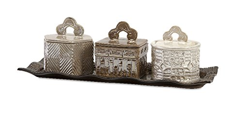 imax-zeller-lidded-boxes-with-tray-silver-set-of-4
