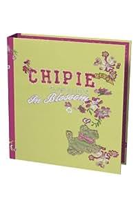 Chipie - Cahiers, bloc-notes - Classeur 2 anneaux rembordé Chipie vert - dos de 4cm
