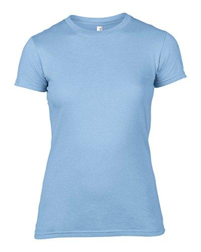 Anvil Frauen fit Mode-T-Shirt Hellblau