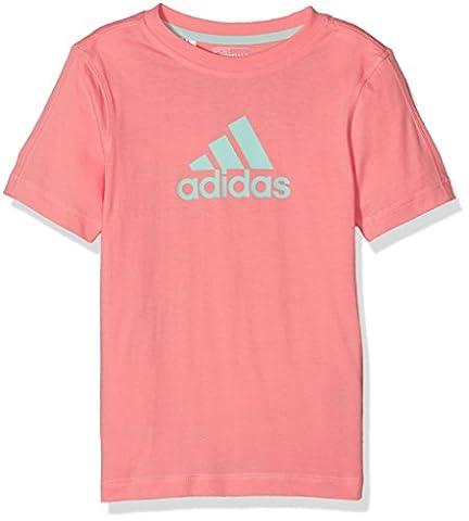 adidas LK ESS LOGO TEE - T-Shirts - Kinder, Pink / Grün, 122