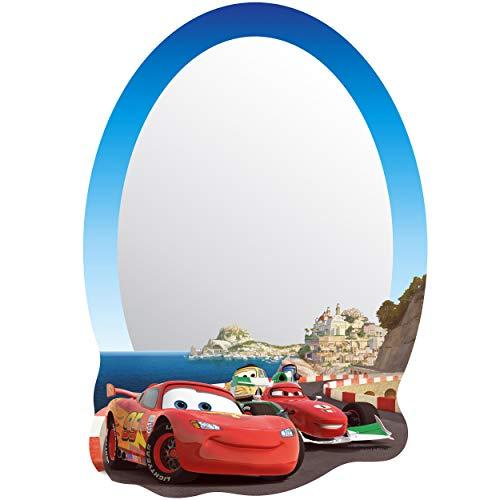 alles-meine.de GmbH Kinder Wandspiegel - Acryl Spiegel - bruchsicher unzerbrechlich - Disney Cars - Auto - Lightning McQueen - selbstklebend & wiederverwendbar - Plexiglas - 22 c..