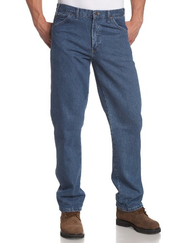 Dickies - - 17-293 Regular Fit Jeans, 44W x 32L, Stonewashed Indigo Blue (Utility-jeans Dickies)