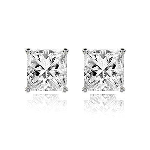 The Jewelbox Silver Metal Stud Earrings For Men