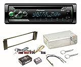 Pioneer DEH-S410DAB Autoradio DAB+ Digitalradio CD MP3 USB 1-DIN Equalizer Einbauset für Audi A3 8L A6 4B