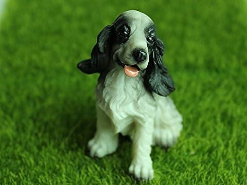 Cocker Spaniel aus Harz Haus&Outdoor&Garten Dekofigur Puppenhaus Puppenstube zubehör Haushund